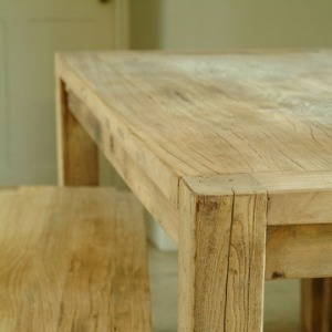 Reclaimed elm furniture set