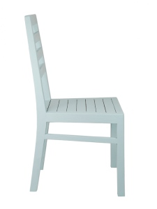 Reclaimed Wood Dining Chair In Duck Egg Blue