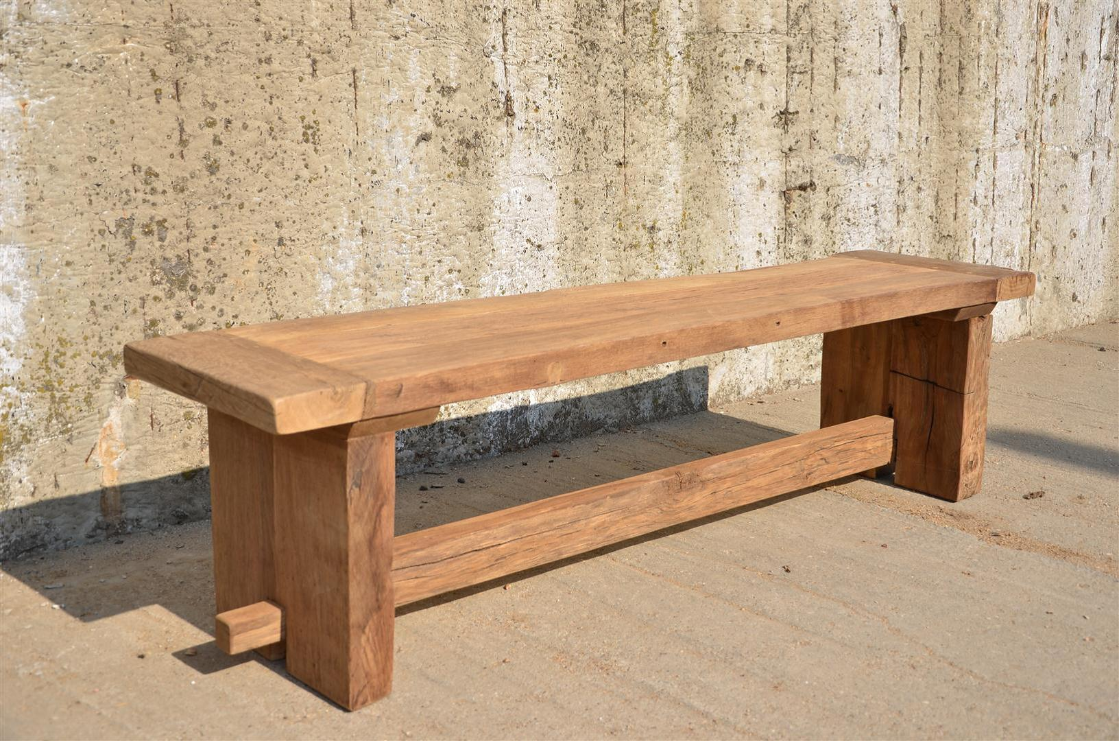 Brand spanking new limited edition reclaimed wood Oak bench